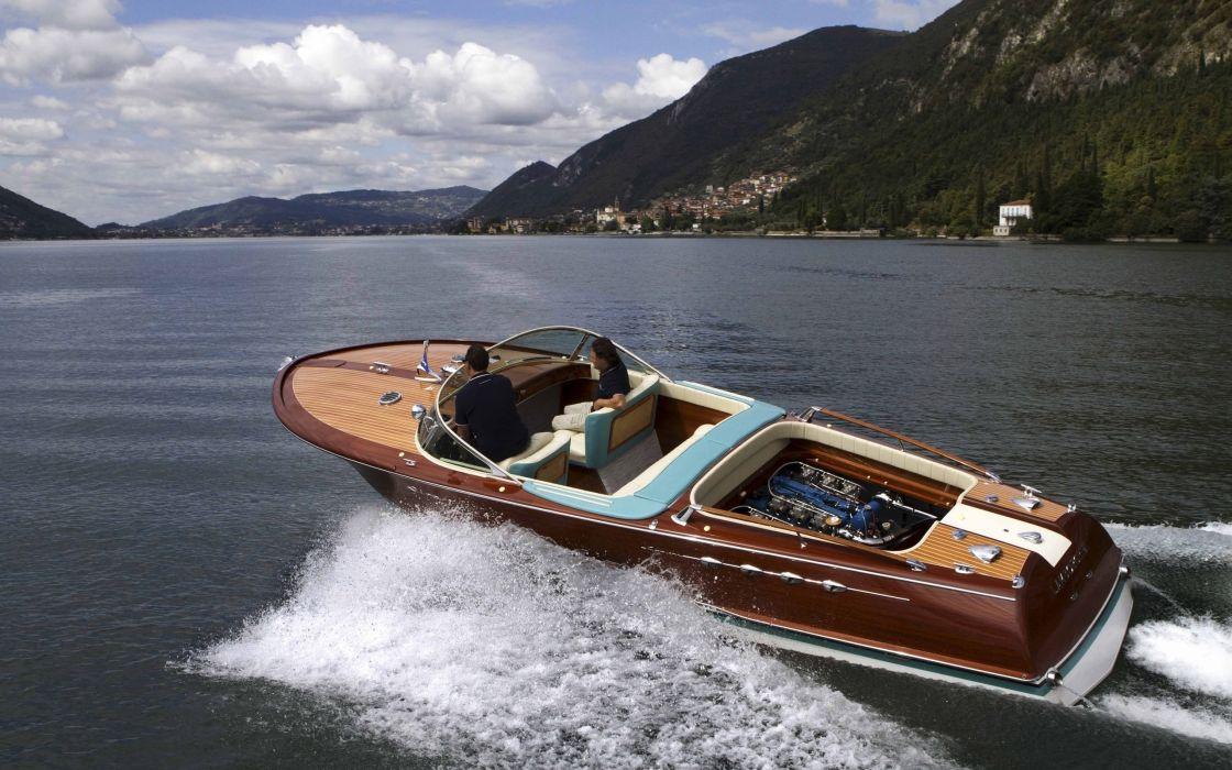 1968 Riva Aquarama Lamborghini superboat race racing boat engine  n wallpaper