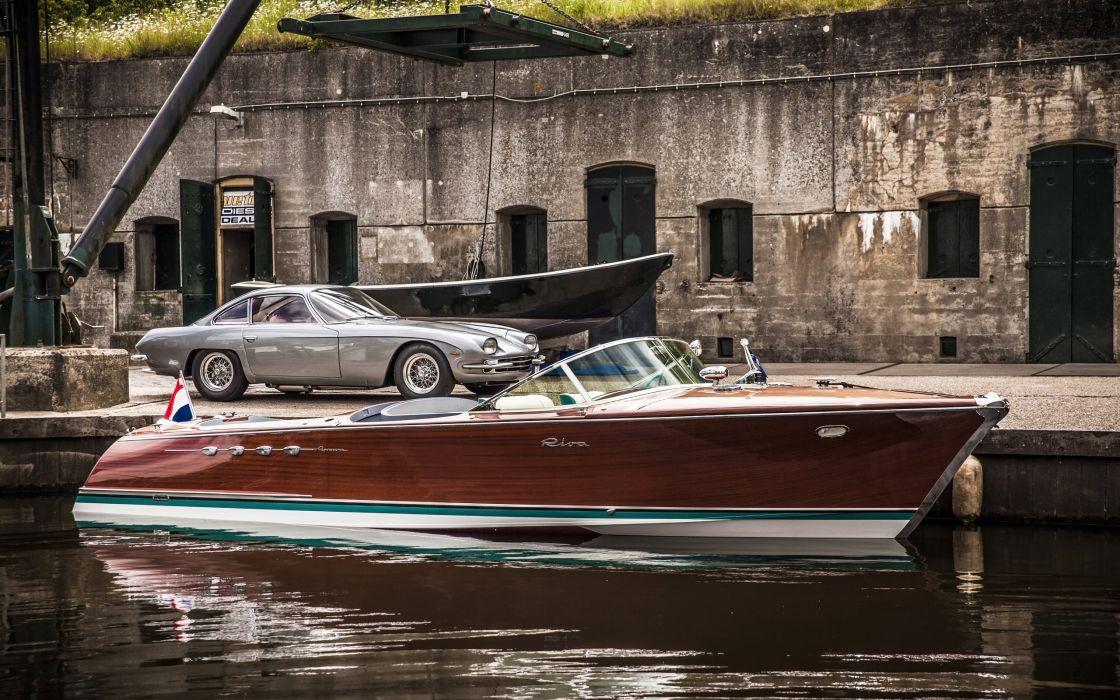 1968 Riva Aquarama Lamborghini superboat race racing boat supercar      g wallpaper