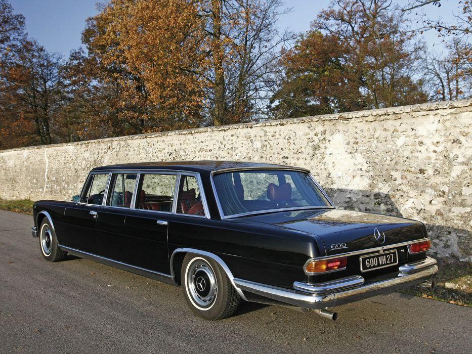 1974 Mercedes Benz 600 4-door Pullman Limousine (W100) luxury claasic  v wallpaper