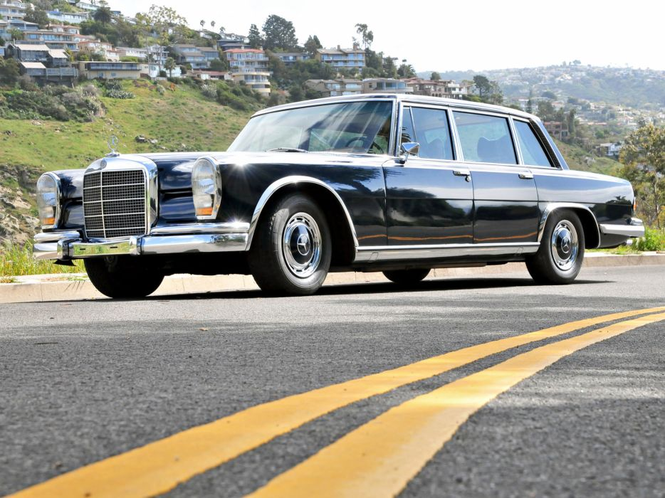 1974 Mercedes Benz 600 4-door Pullman Limousine (W100) luxury claasic   f wallpaper