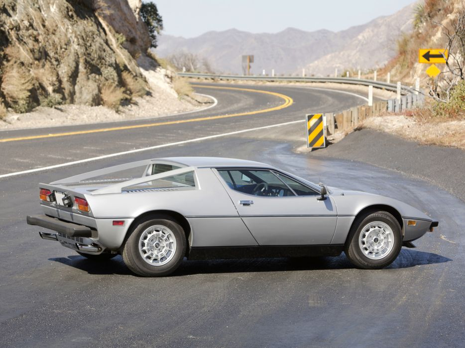 1976 Maserati Merak SS US-spec supercar s-s      r wallpaper
