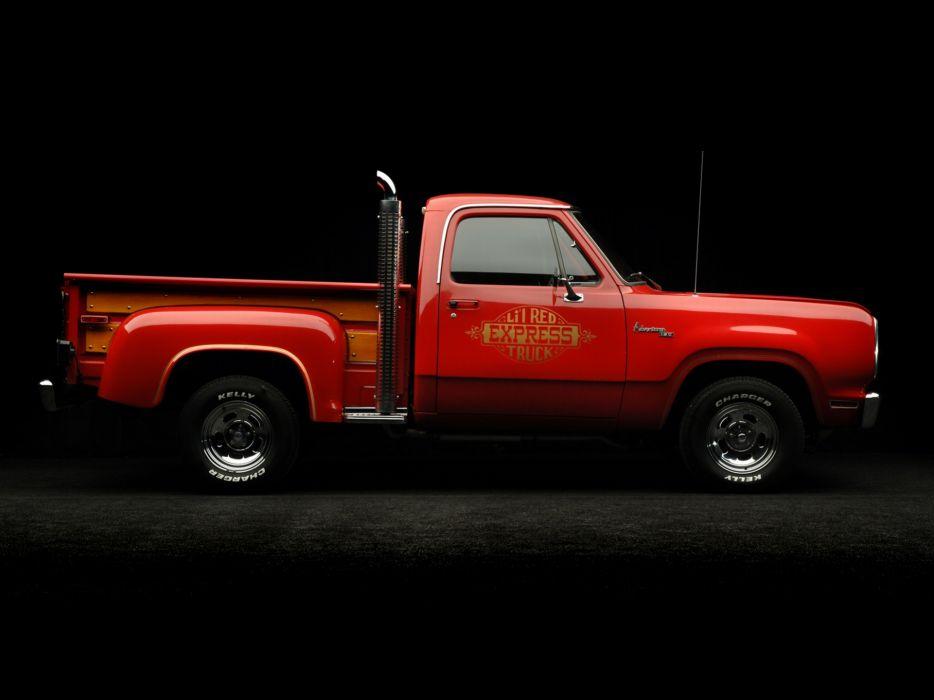 1978 Dodge Adventurer Li'l Red Express Truck pickup hot rod rods classic    fy wallpaper