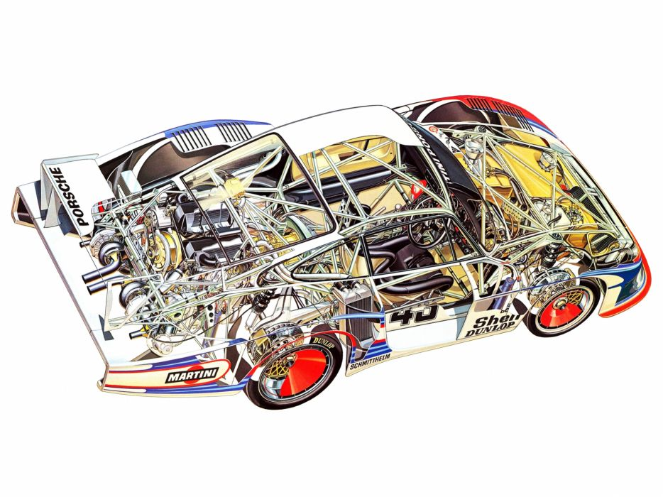 1978 Porsche 935-78 Moby Dick race racing 935 interior engine   v wallpaper