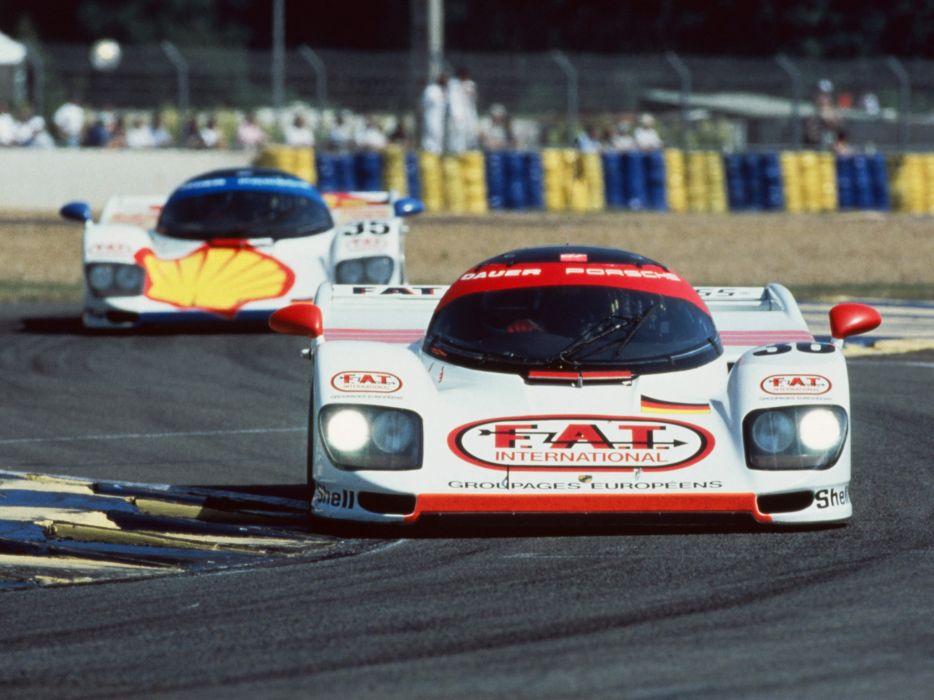 1994 Dauer Porsche 962 Le Mans Race Racing Lmp1 Wallpaper