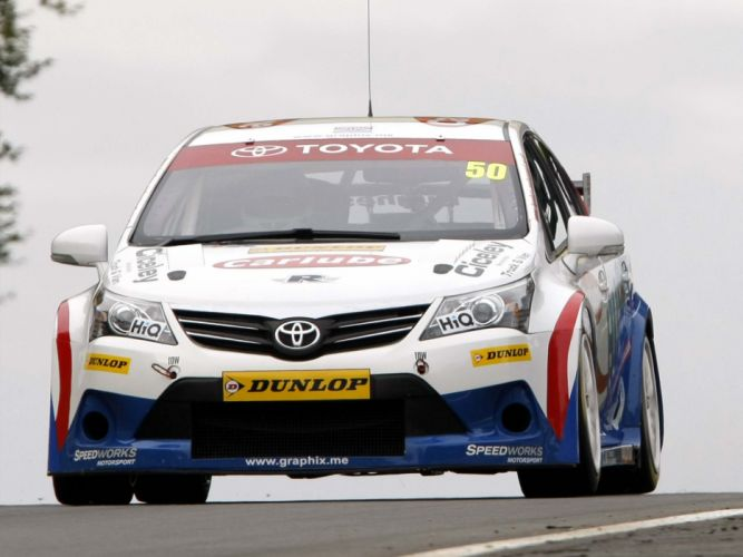 2012 Toyota Avensis Sedan BTCC race racing v wallpaper