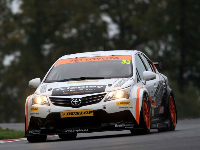 2012 Toyota Avensis Sedan BTCC race racing wallpaper