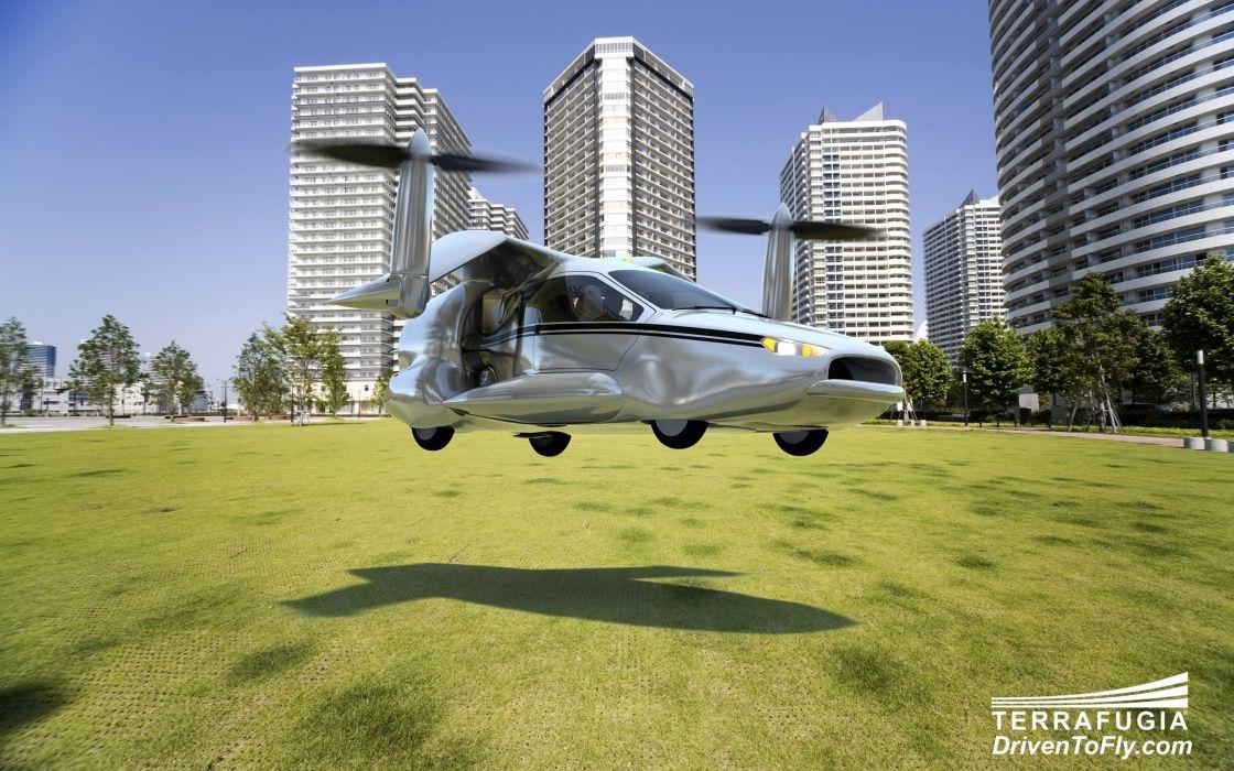 2013 Terrafugia TF-X concept plane airplane aircraft    f wallpaper