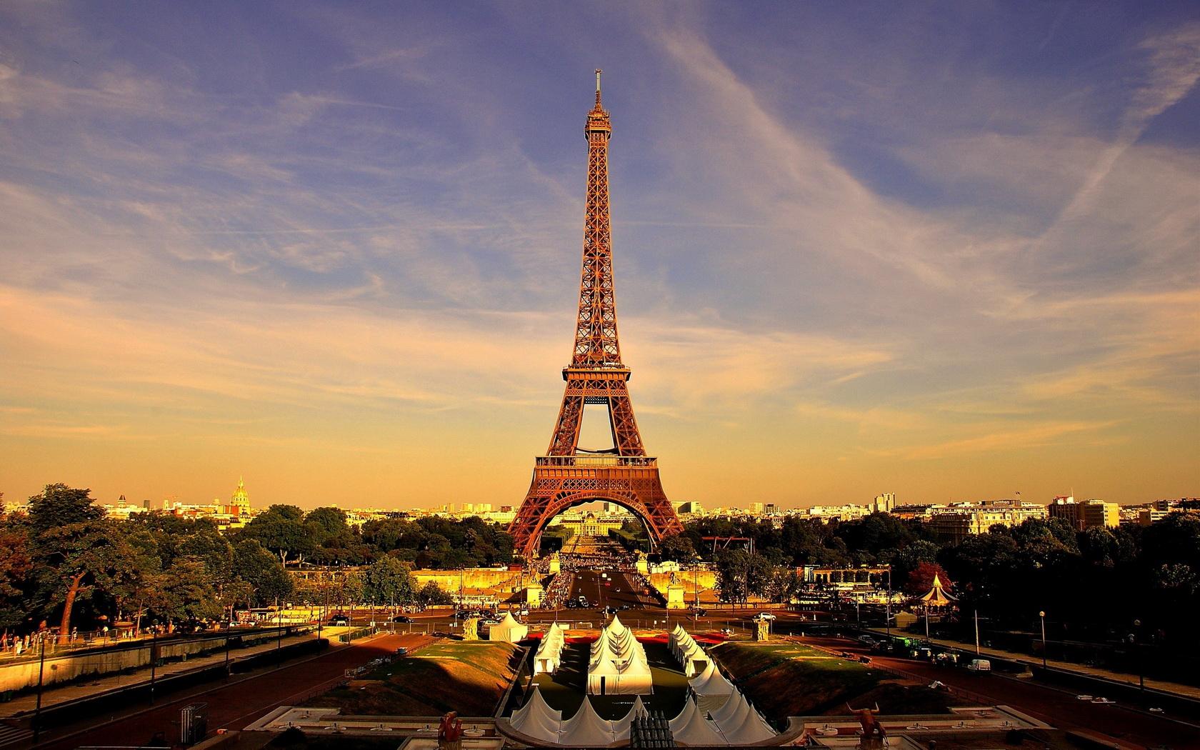 Paris la tour eiffel wallpaper 1680x1050 159522 wallpaperup - Landscaping parijs ...