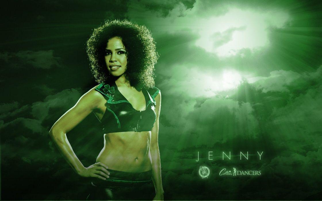 Boston Celtics cheerleader basketball nba    gh wallpaper