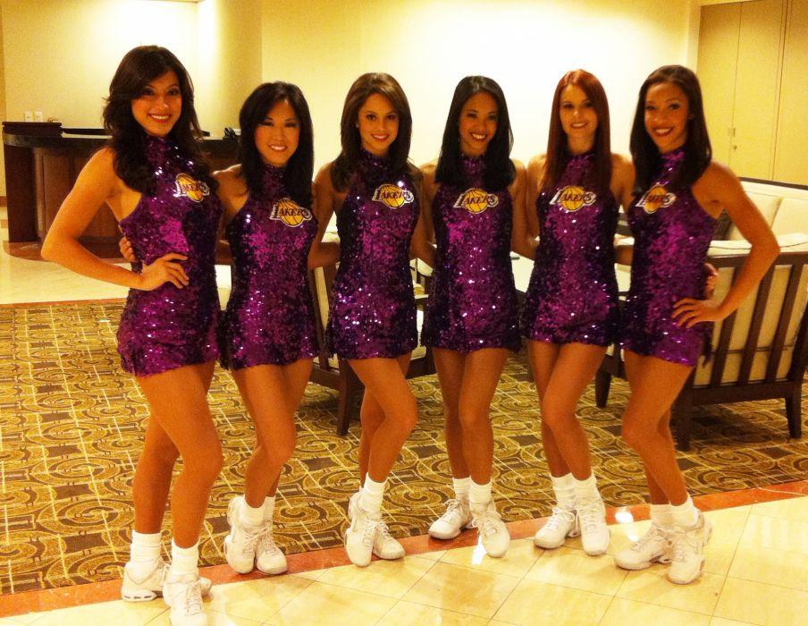 Los Angeles Lakers cheerleader nba    f wallpaper