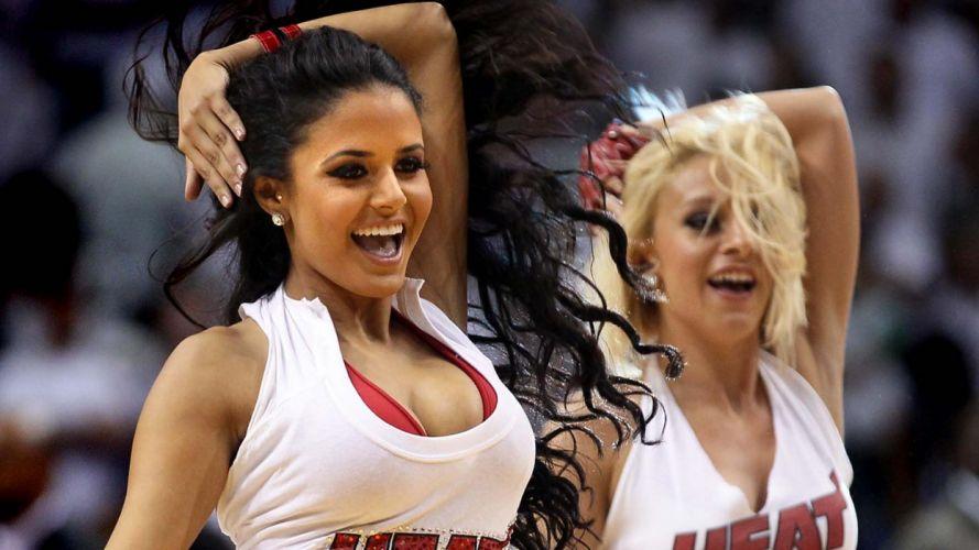 Miami Heat cheerleader basketball nba g wallpaper