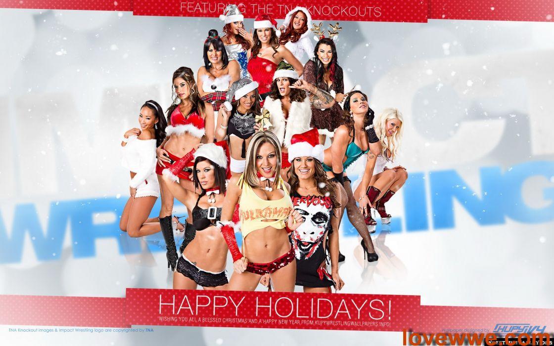WWE DIVAS wrestling sexy babe christmas   g wallpaper