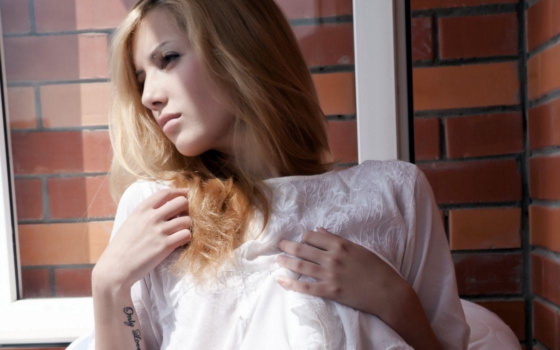Woman Girl Beauty Blonde Tofana A wallpaper