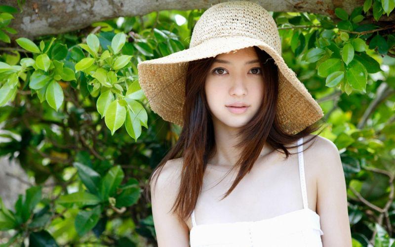 Woman Girl Beauty Brunette Asian Japanese Rina Aizawa wallpaper