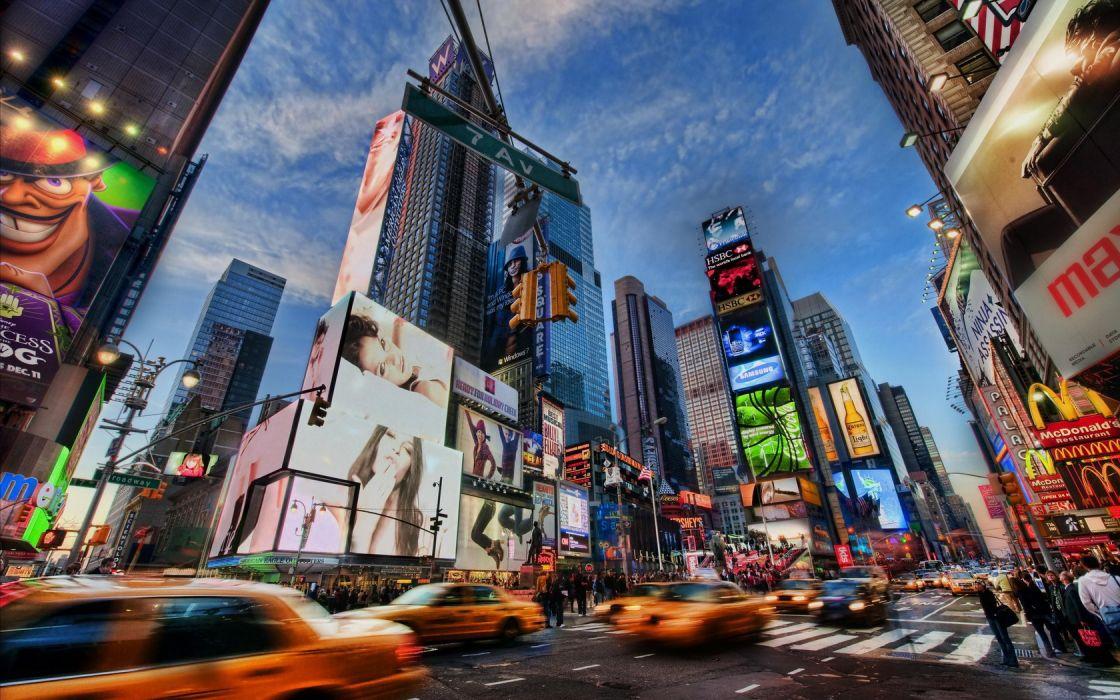 Cityscape Times Square New York City wallpaper