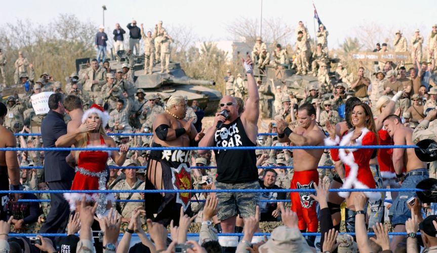 WWE wrestling christmas military wallpaper