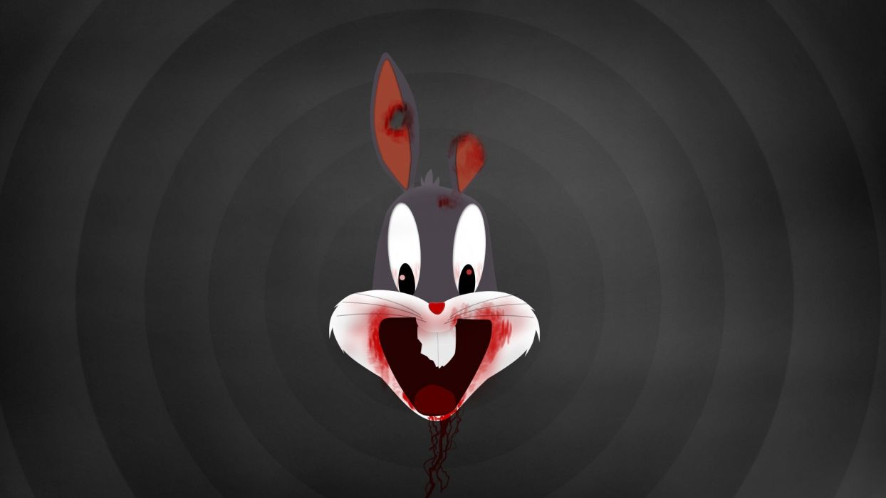 BUGS BUNNY looney tunes zombie wallpaper