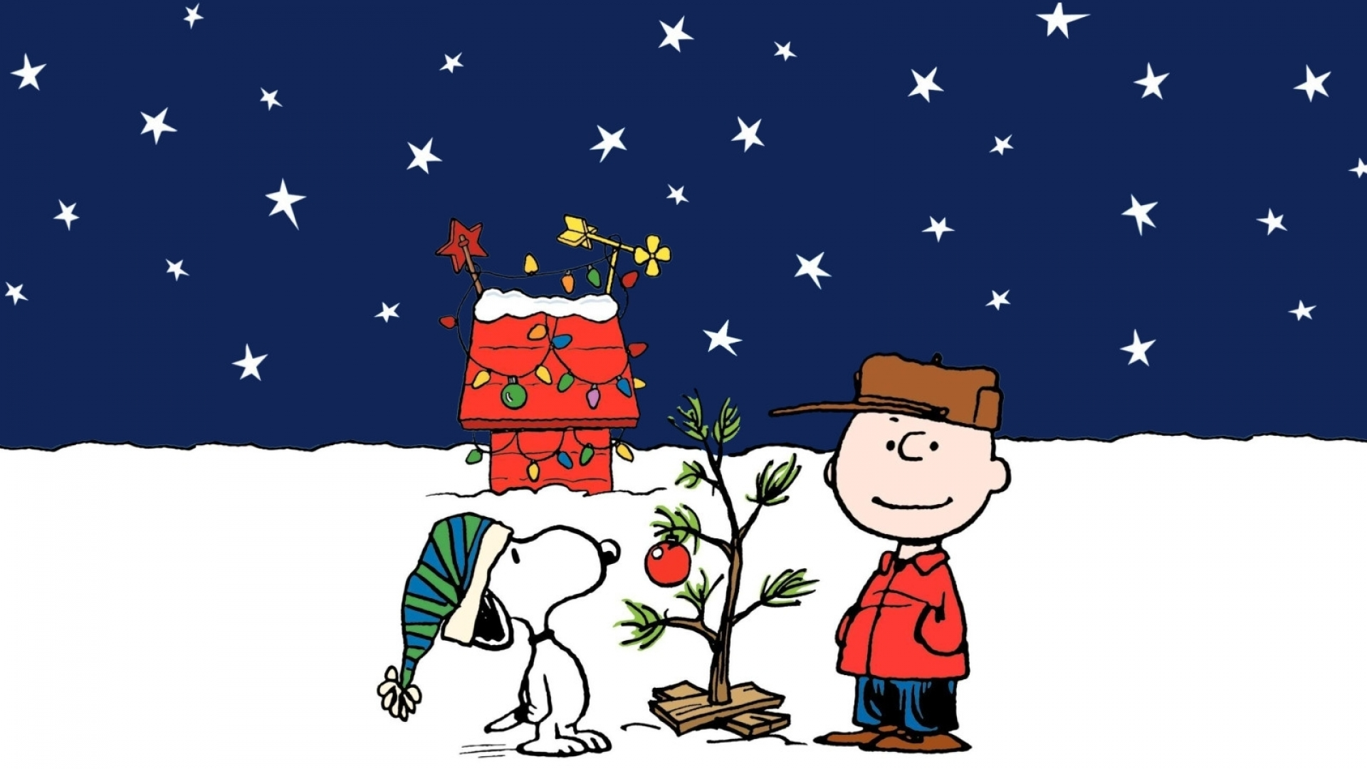 charlie brown peanuts comics snoopy christmas gg wallpaper 1920x1080 160960 wallpaperup