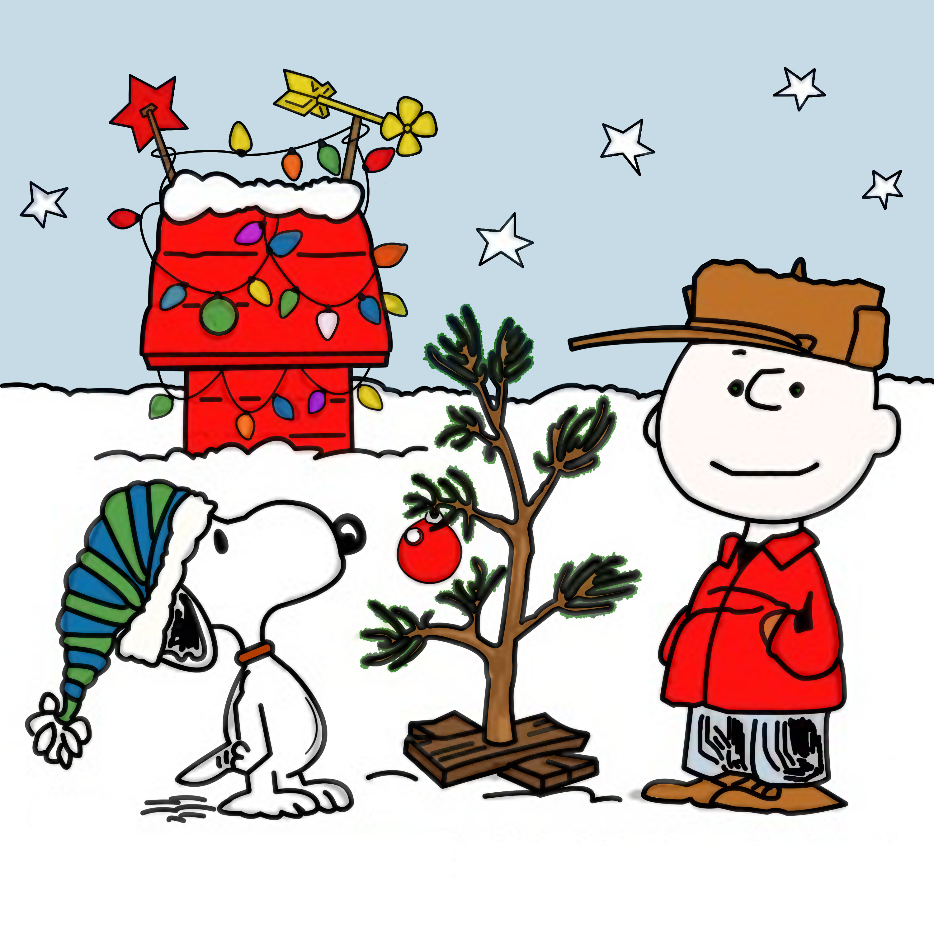 charlie brown peanuts comics snoopy christmas ry wallpaper 3000x3000 160964 wallpaperup