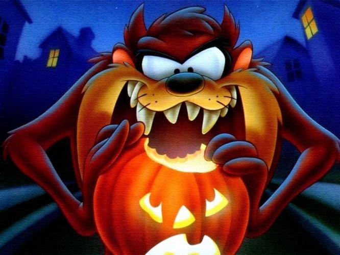 TASMANIAN DEVIL taz looney halloween f wallpaper
