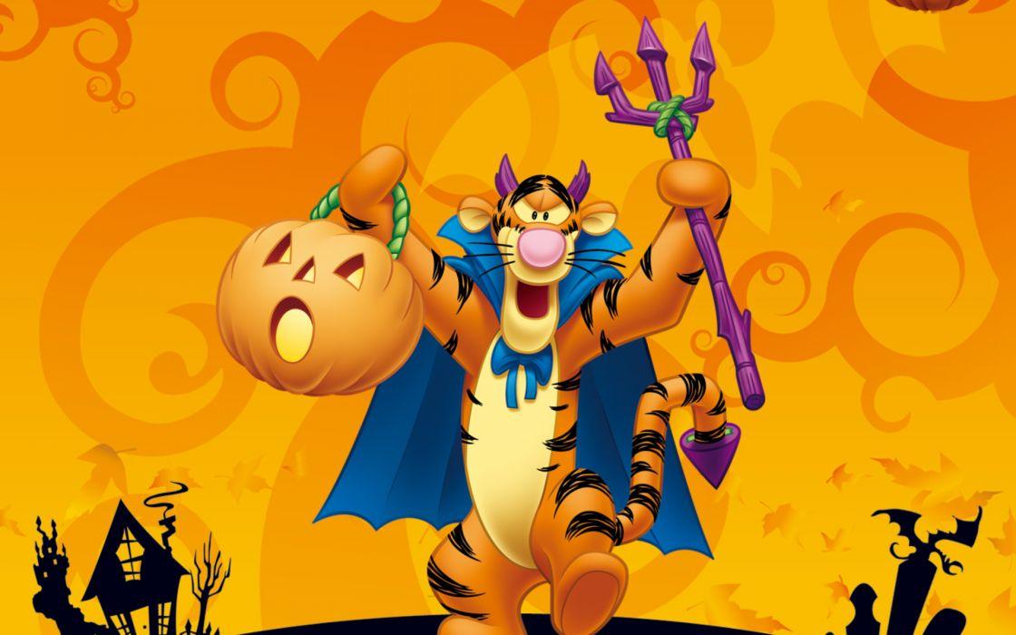 Halloween Tigger Winnie Pooh Disney F Wallpaper 1920x1200 161482