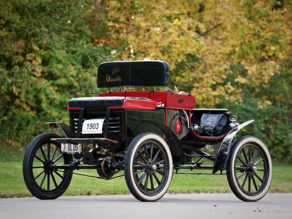 1903 Oldsmobile Model-R Curved Dash Runabout retro  gg wallpaper