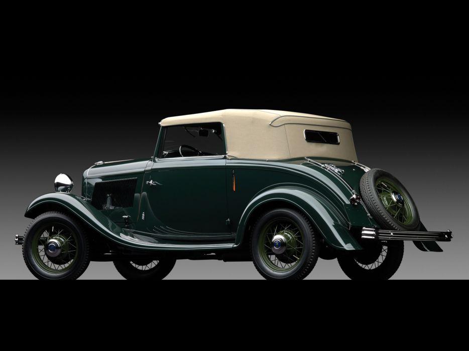 1932 Ford V8 Cabriolet by Pinin Farina retro v-8 luxury    f wallpaper