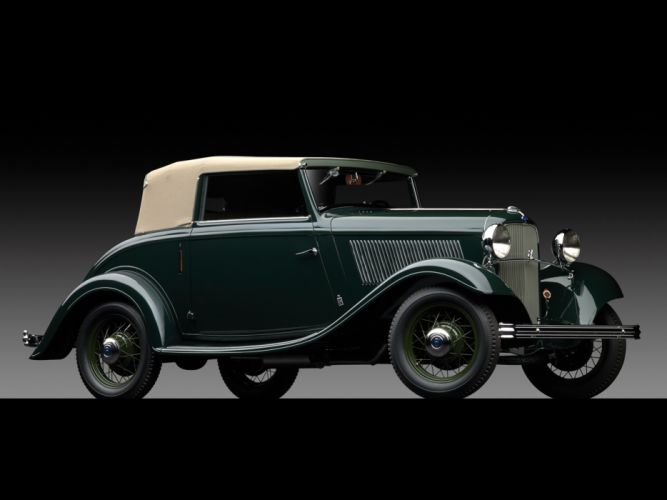 1932 Ford V8 Cabriolet by Pinin Farina retro v-8 luxury wallpaper
