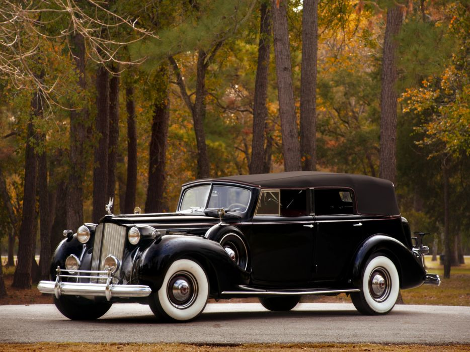 1938 Packard Twelve Convertible Sedan luxury retro    h wallpaper