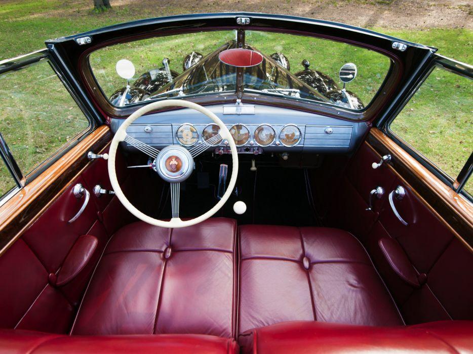 1938 Packard Twelve Convertible Sedan luxury retro interior  j wallpaper