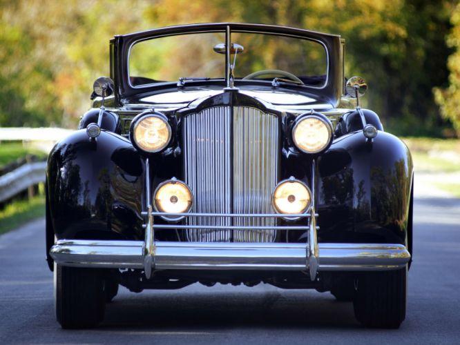 1938 Packard Twelve Convertible Sedan luxury retro wallpaper