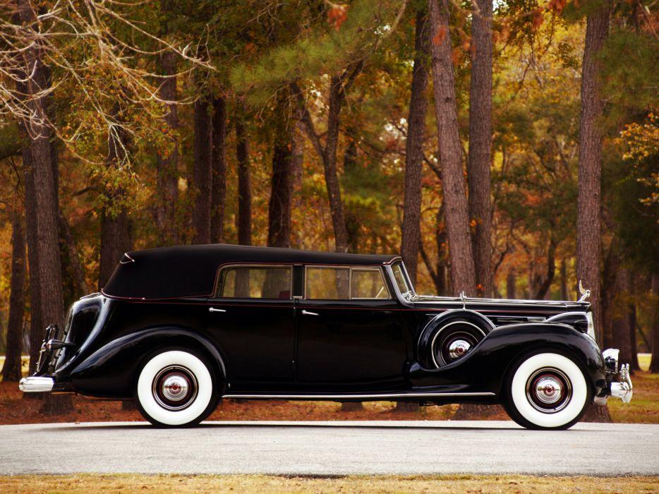 1938 Packard Twelve Convertible Sedan luxury retro   hg wallpaper