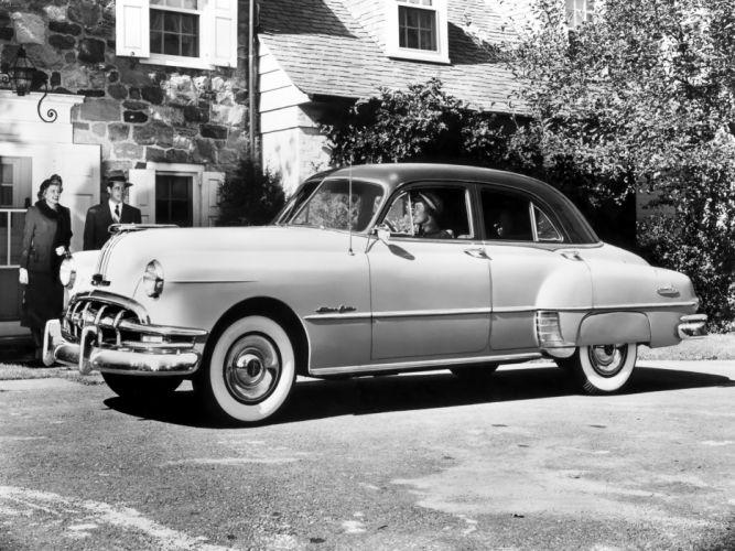 1950 Pontiac Chieftain Deluxe Eight 4-door Sedan (2569D) retro wallpaper