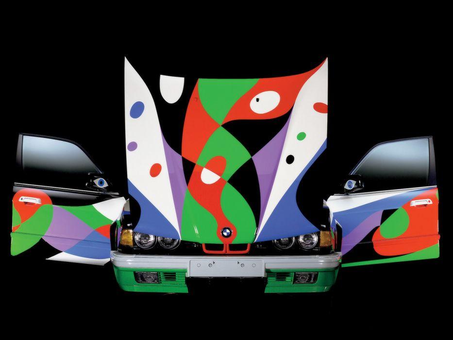 1990 BMW 7-Series 730i Art Car by Cesar Manrique E32  d wallpaper