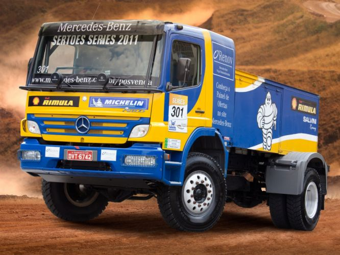 2006 Mercedes Benz Atego 1725 Rally Truck race racing offroad h wallpaper
