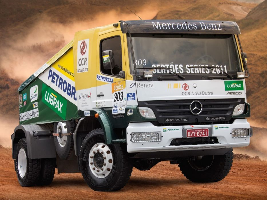 2006 Mercedes Benz Atego 1725 Rally Truck race racing offroad  f wallpaper