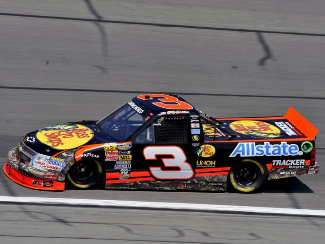 2009 Chevrolet Silverado NASCAR Camping World Series Truck race racing d wallpaper