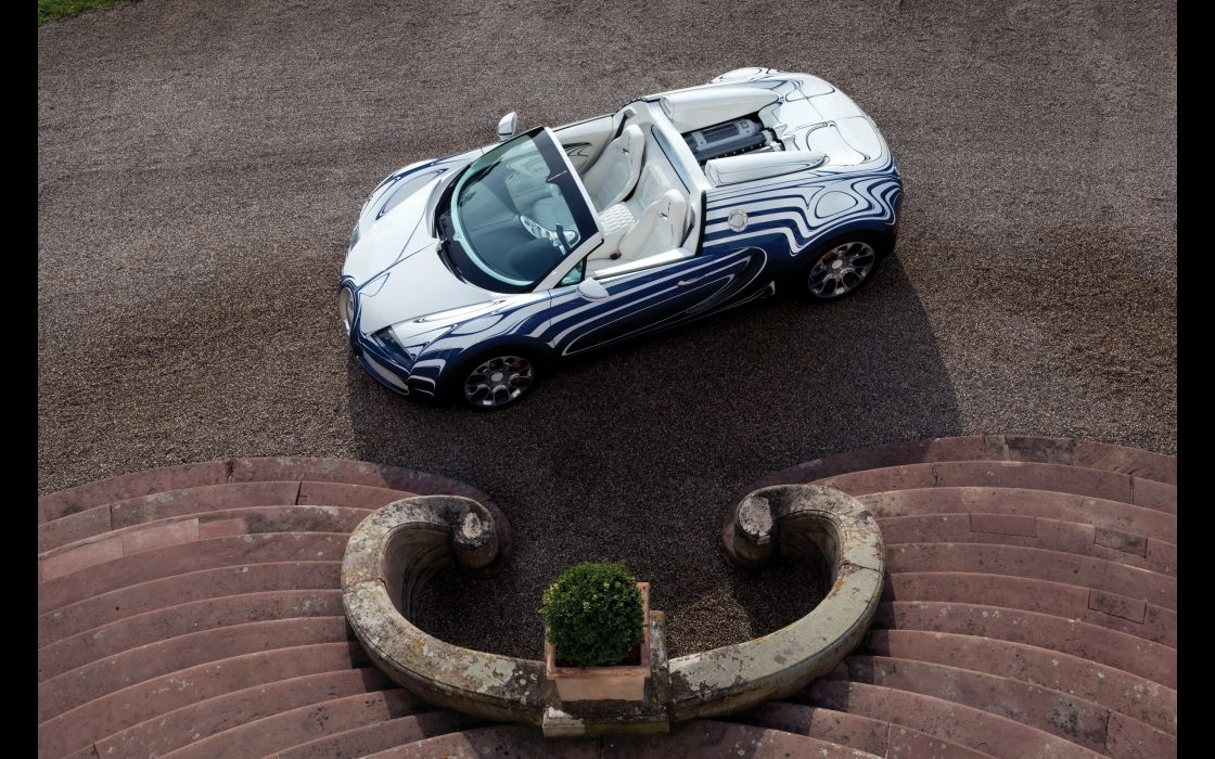 2011 Bugatti Veyron Grand Sport L'Or Blanc supercar     g wallpaper