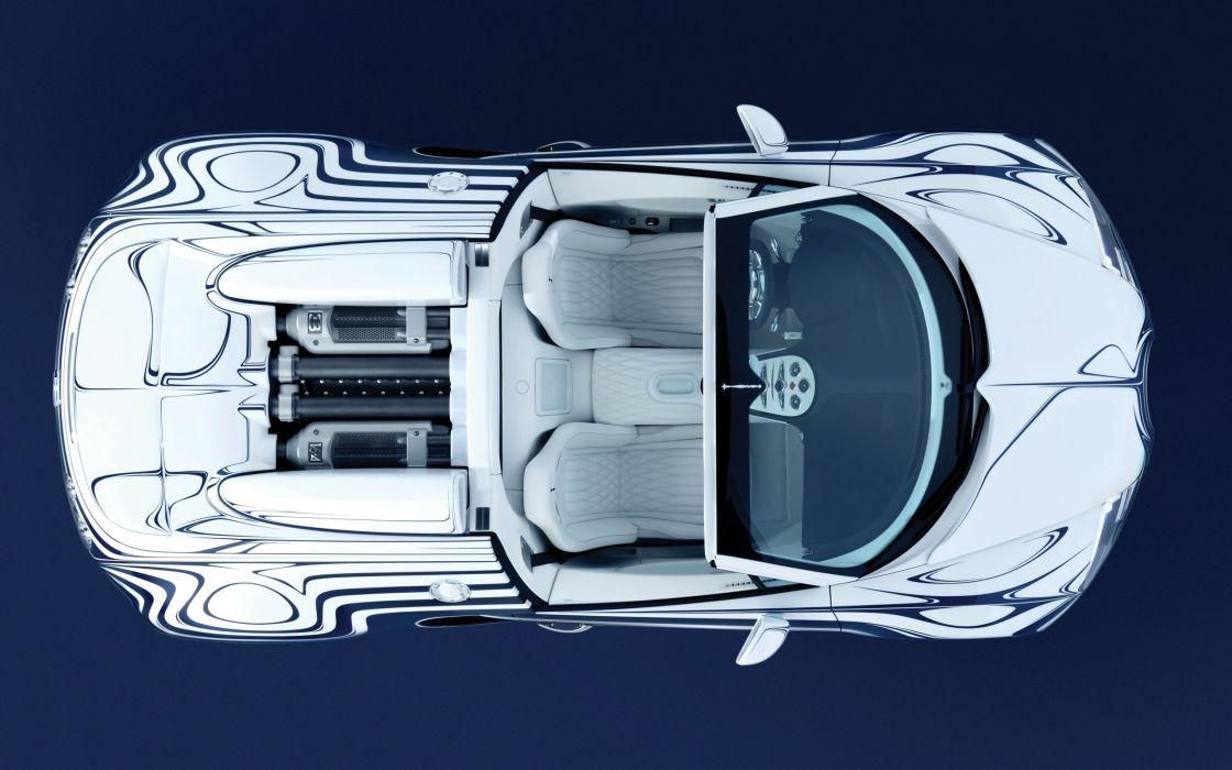 2011 Bugatti Veyron Grand Sport L'Or Blanc supercar engine      g wallpaper