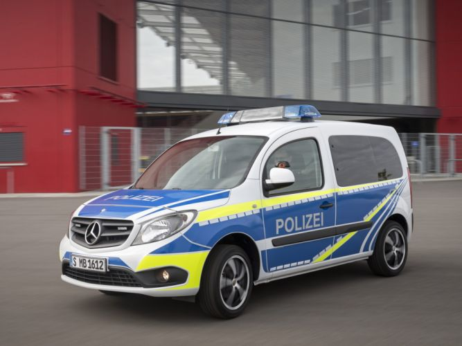 2013 Mercedes Benz Citan Polizei emergency police emergency van g wallpaper