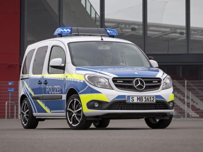 2013 Mercedes Benz Citan Polizei emergency police emergency van wallpaper