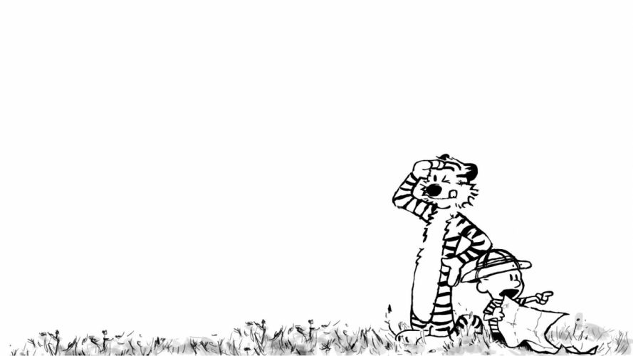 calvin and hobbes comics fp wallpaper