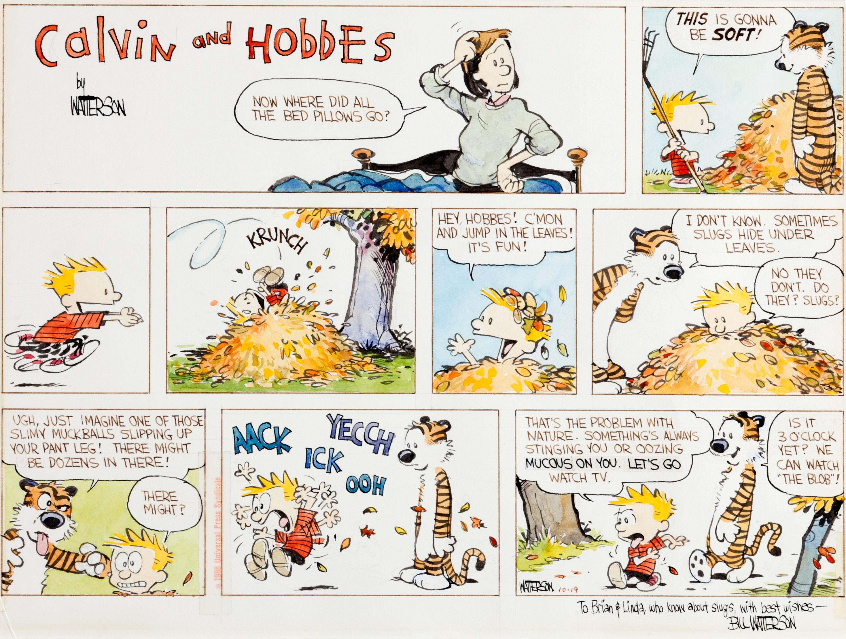 Calvin And Hobbes Comics Rw Wallpaper