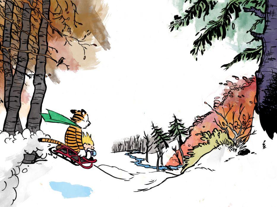 calvin and hobbes comics christmas  g wallpaper