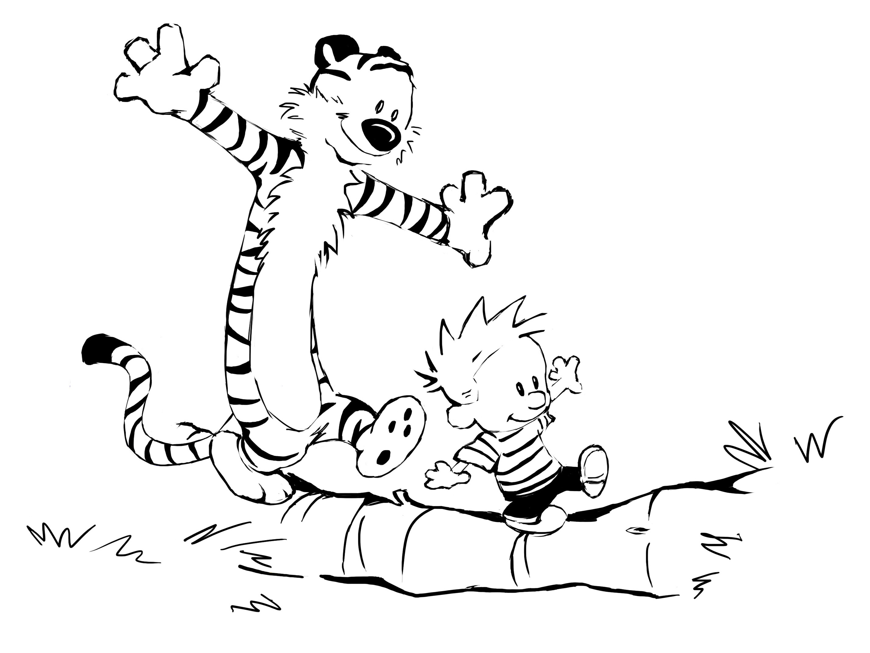 calvin hobbs coloring pages - photo#12