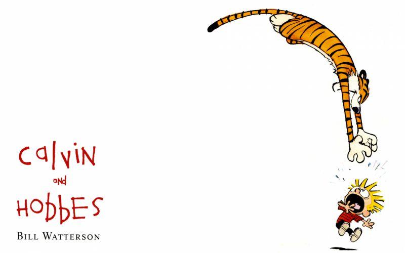 calvin and hobbes comics tiger d wallpaper