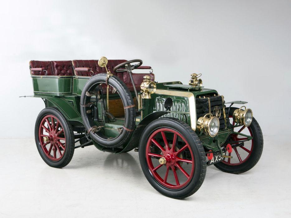 1902 Panhard & Levassor Type0B1 12-HP Rear entrance Tonneau retro wallpaper