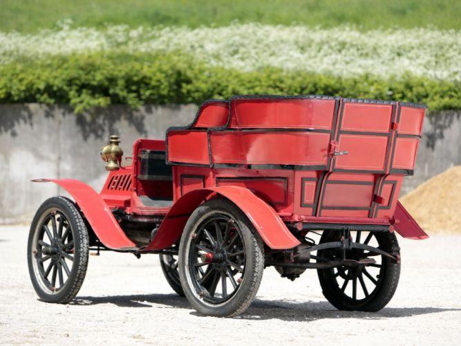 1904 De Dion Bouton Model-V 8-HP Rear entrance Tonneau retro wallpaper