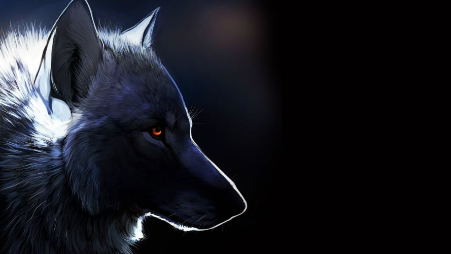 animals wolf art wallpaper