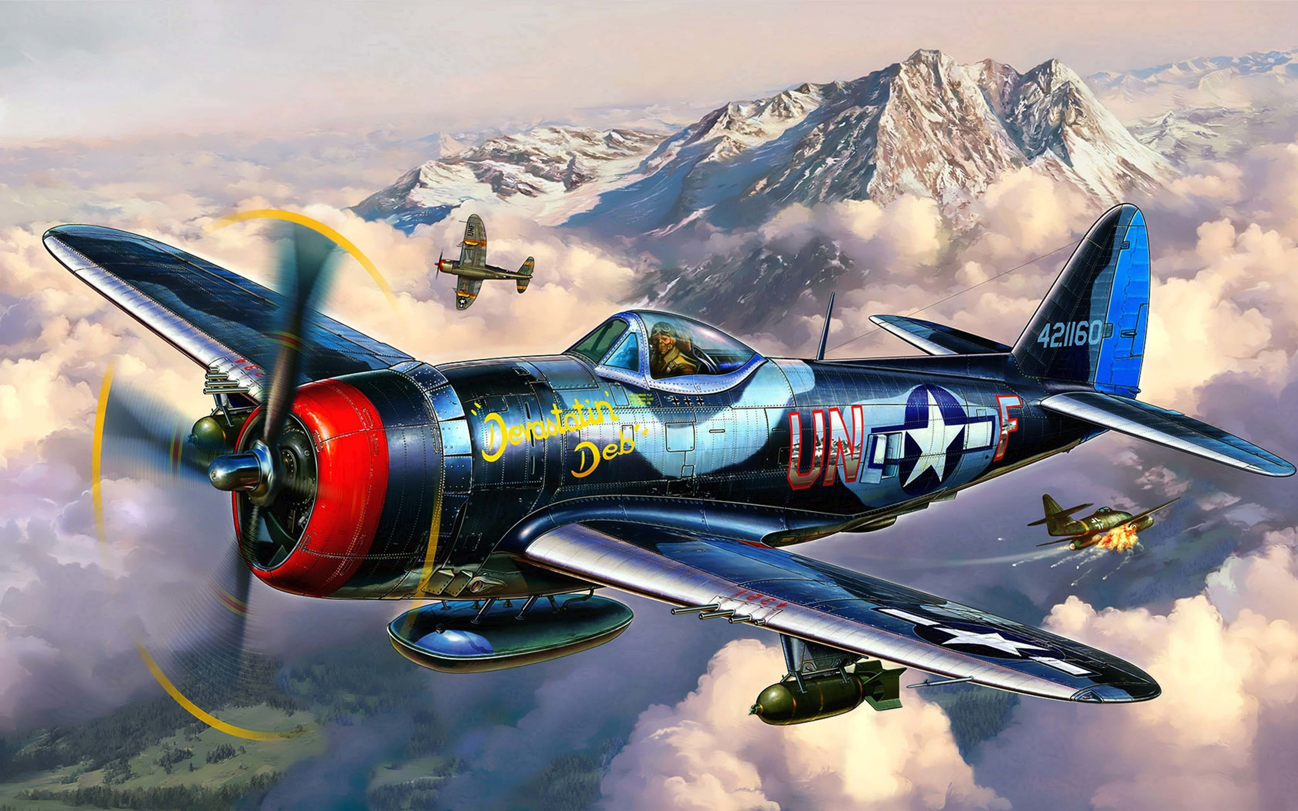 P 47 Thunderbolt Wallpaper Art thunderbolt republ...